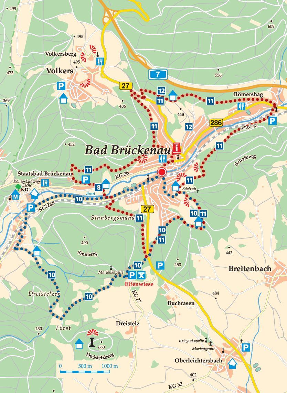 Rhön-Rundweg 10 Sinntal Karte