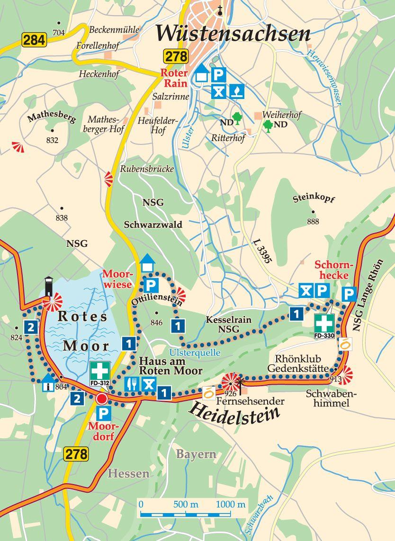Rhön-Rundweg 1 Moordorf Karte