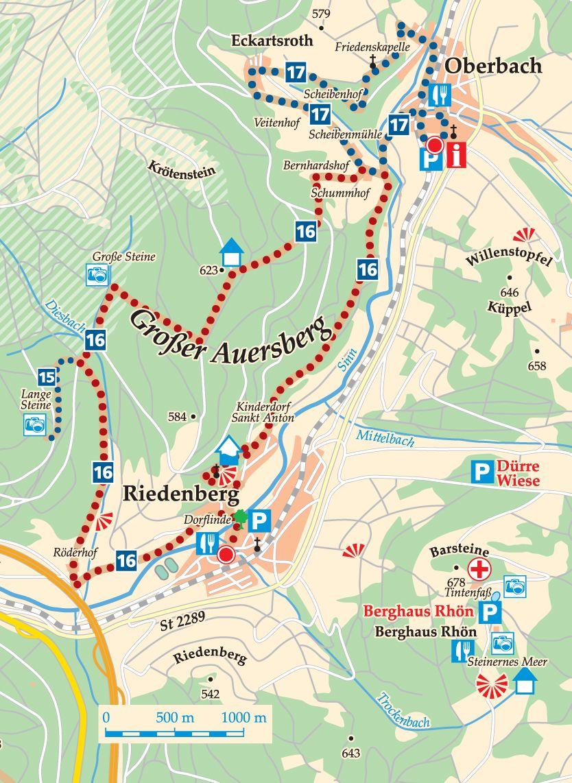 Rhön-Rundweg 16 Sinntal Karte