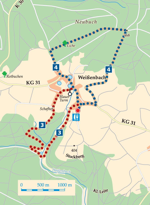 Rhön-Rundweg 3 Zeitlofs Karte