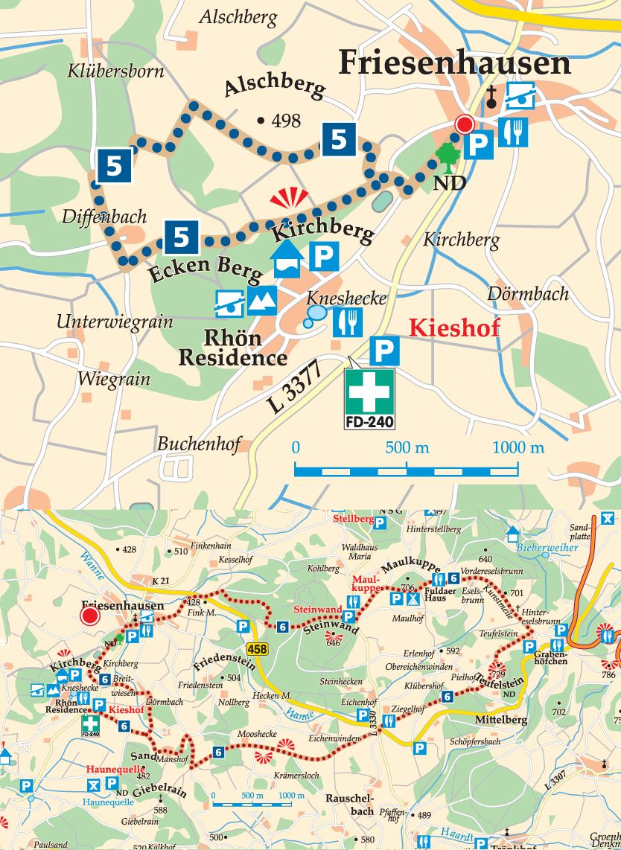 Rhön-Rundweg 5 Friesenhausen Karte
