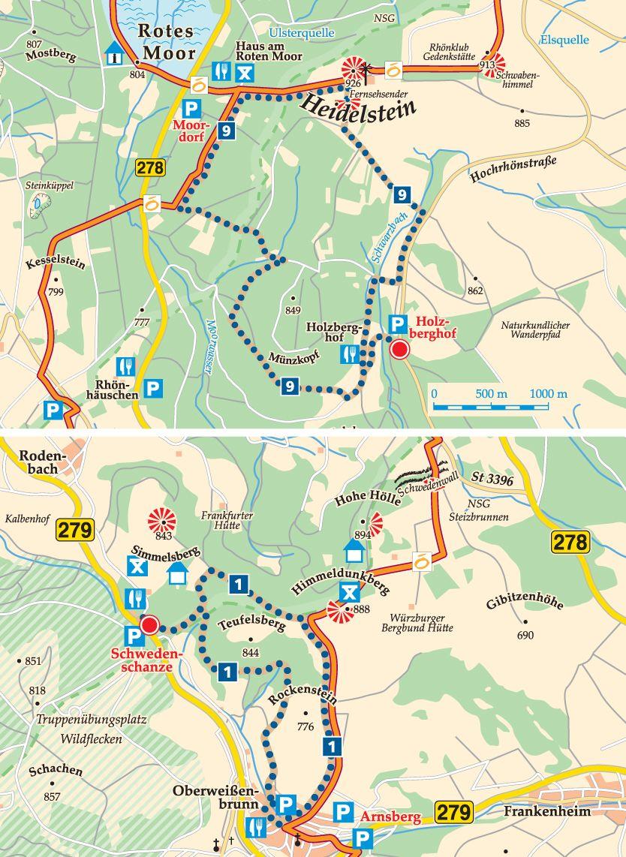 Rhön-Rundweg 1 Schwedenschanze Karte