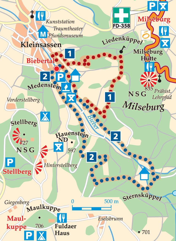 Rhön-Rundweg 2 Biebertal karte