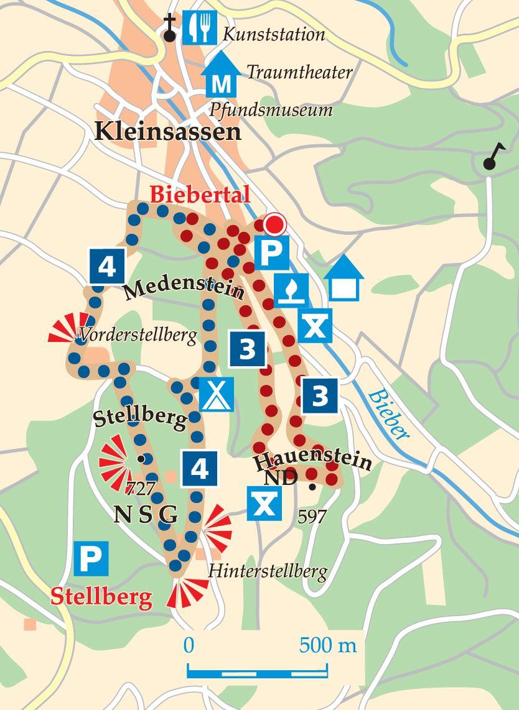 Rhön-Rundweg 4 Biebertal Karte
