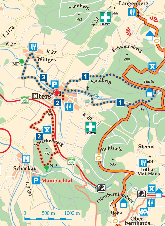Rhön-Rundweg 1 Elters Karte