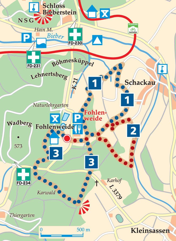 Rhön-Rundweg 2 Fohlenweide Karte