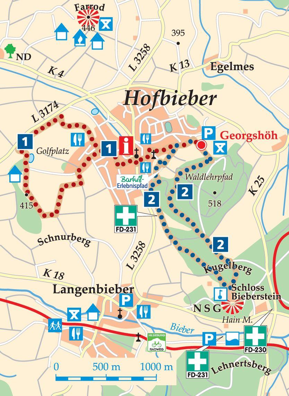 Rhön-Rundweg 2 Hofbieber Karte