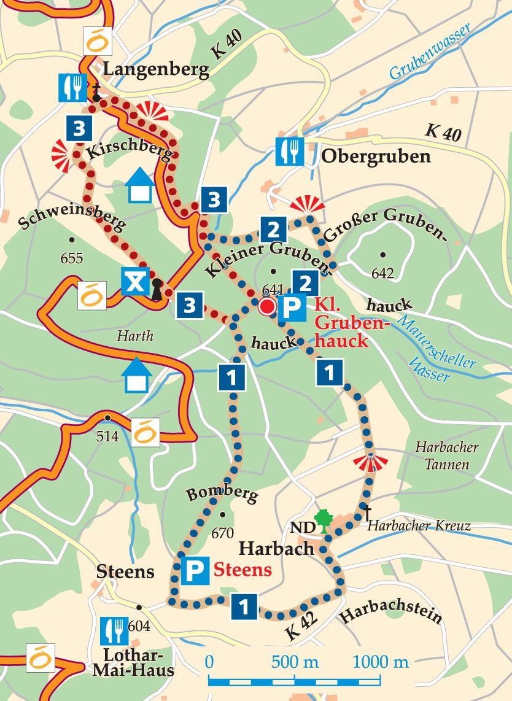 Rhön-Rundweg 2 Kleiner Grubenhauck Karte