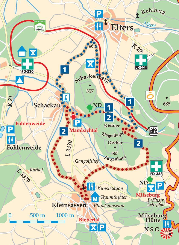 Rhön-Rundweg 2  Mambachtal Karte
