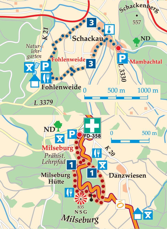 Rhön-Rundweg 3 Mambachtal Karte