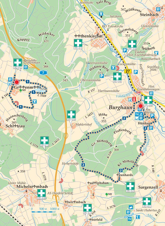 1 Burghaun Grossenmoor Karte
