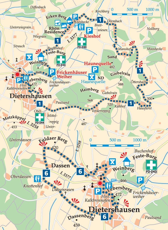 Rhön-Rundweg 3 Dietershausen Karte