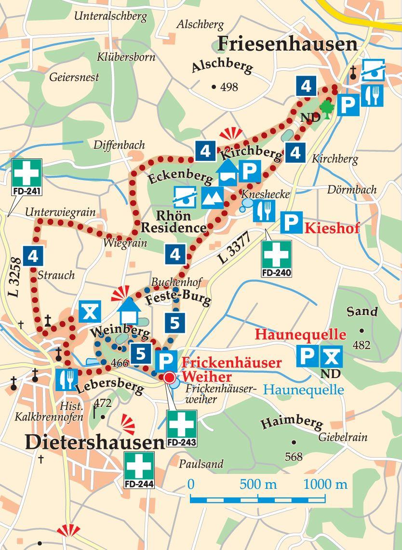 Rhön-Rundweg 4 Dietershausen Karte