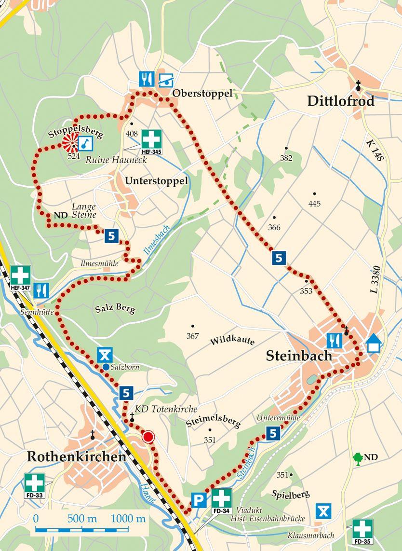 5 Burghaun Rothenkirchen Karte