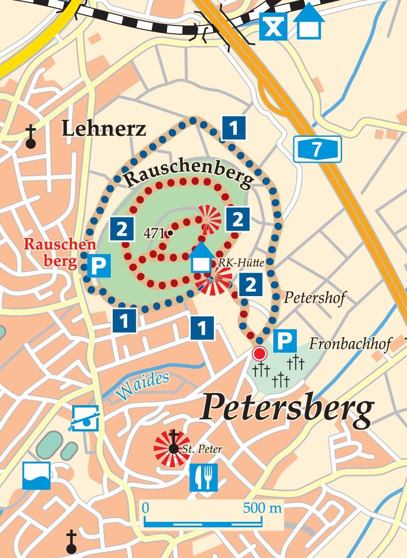 Rhön-Rundweg 1 Petersberg Karte