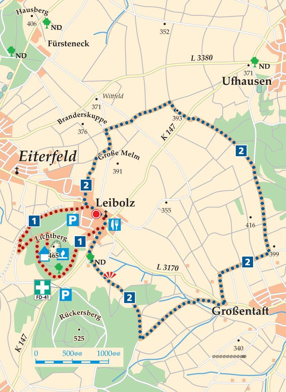 Rhoen Rundwege 2 Eiterfeld Leibolz Karte