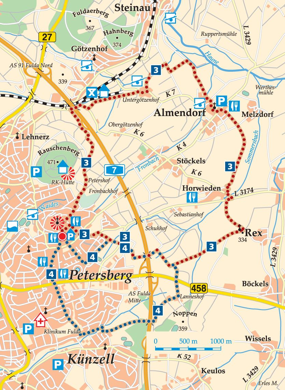 Rhön-Rundweg 3 Petersberg Karte