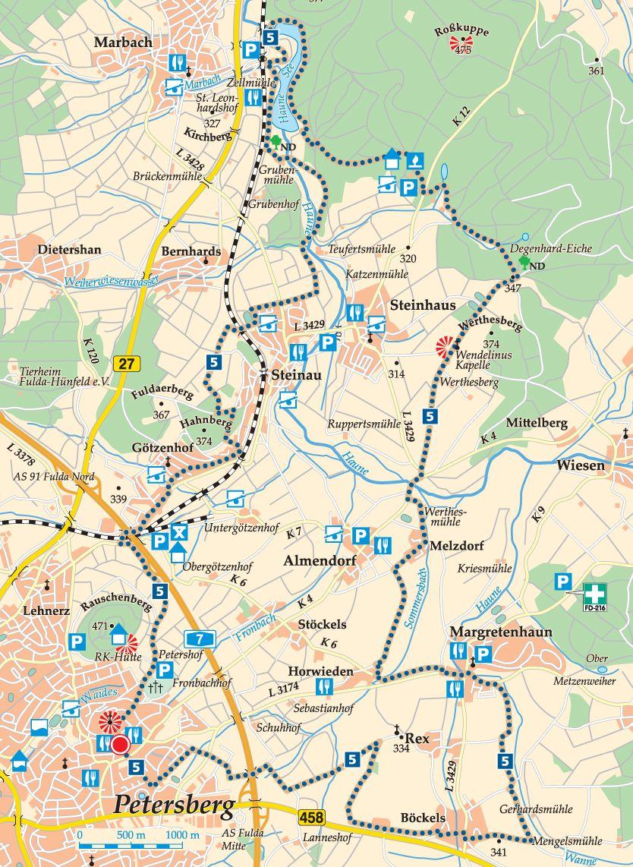 Rhön-Rundweg 5 Petersberg Karte
