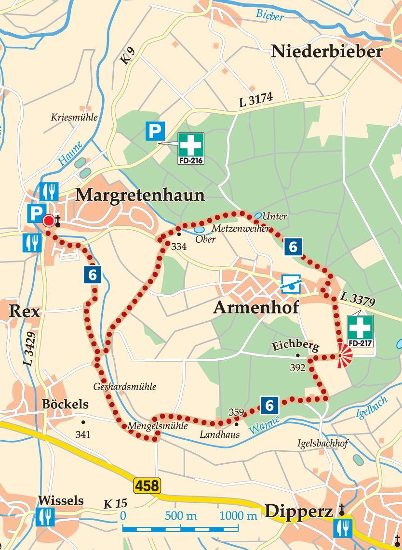 Rhön-Rundweg 6 Petersberg Karte