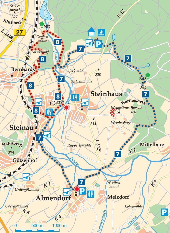 Rhön-Rundweg 8 Petersberg Karte