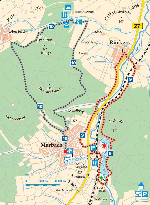 Rhön-Rundweg 10 Petersberg Karte