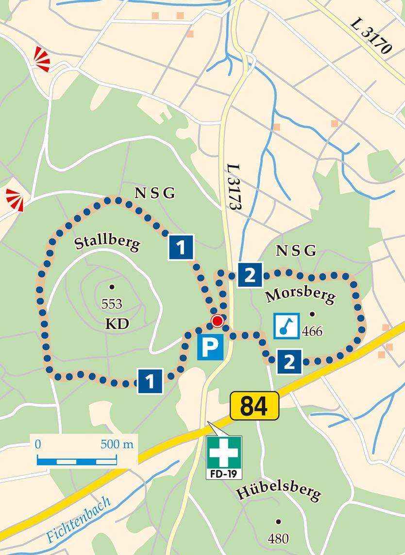 Rhoen Rundwege 1 Huenfeld Stallberg Karte