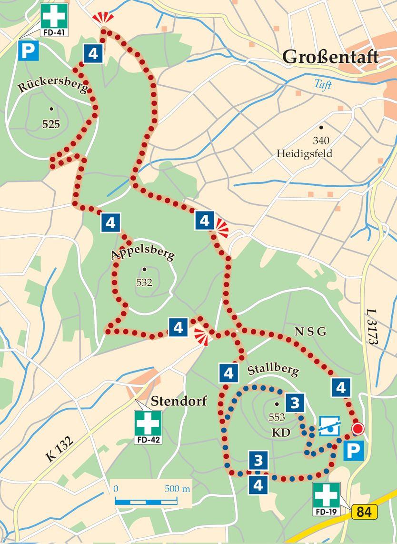 Rhoen Rundwege 3 Huenfeld Stallberg Karte