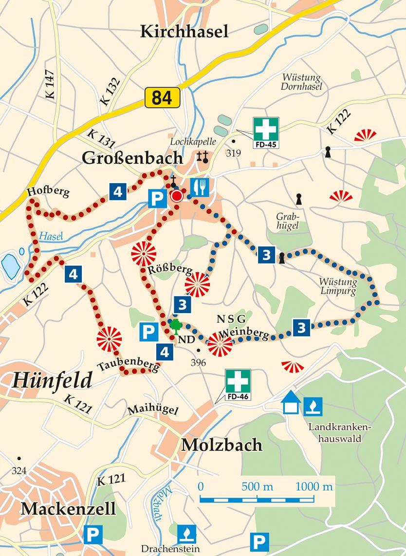 Rhön-Rundweg 3 Großenbach Karte