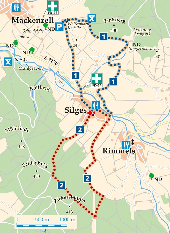 Rhoen Rundwege 2 Nuesttal Silges Karte