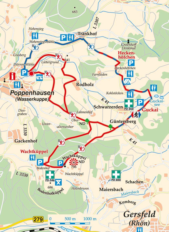 nordic-walking-rot-poppenhausen-poppenhausen-karte
