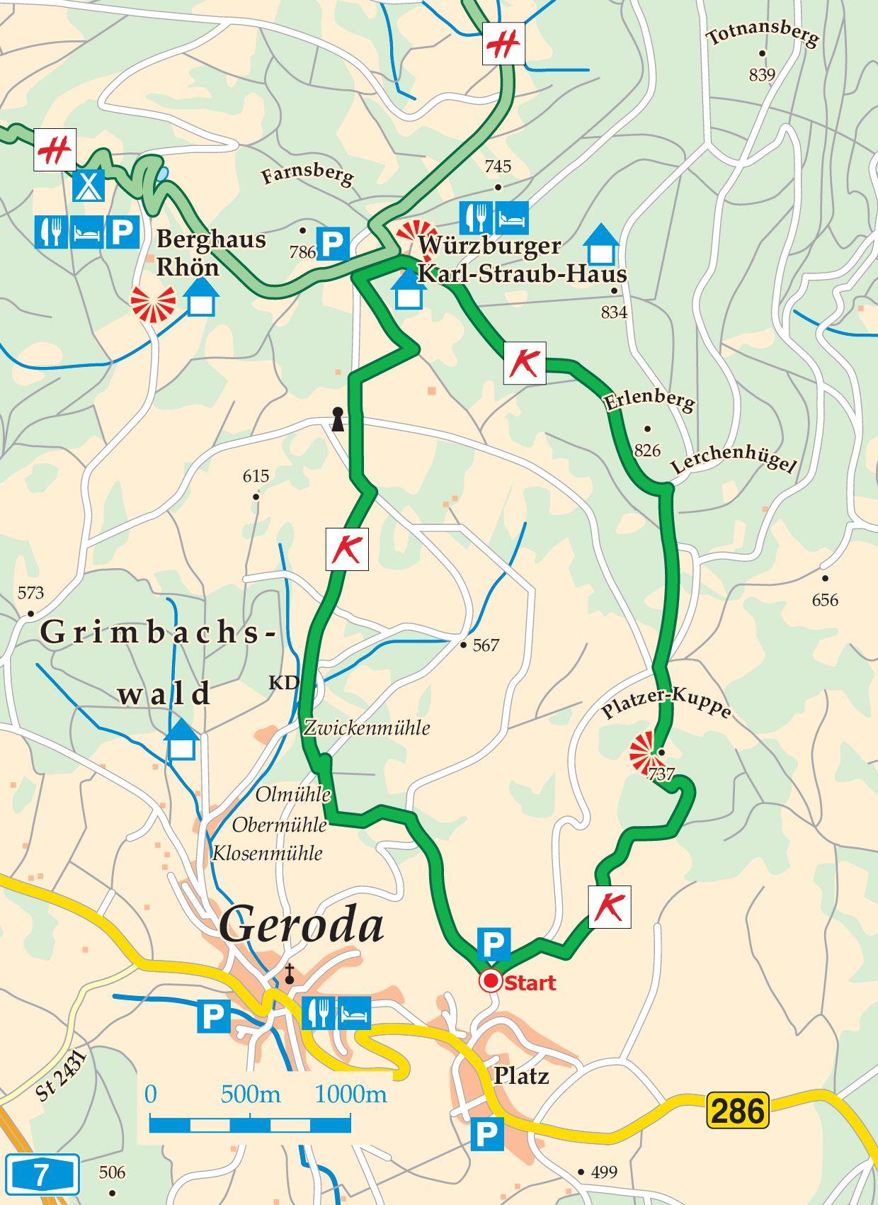 Extratour Kuppenweg Karte