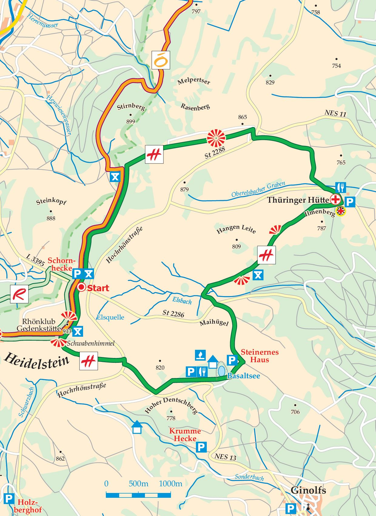 Extratour Hochrhöntour Karte