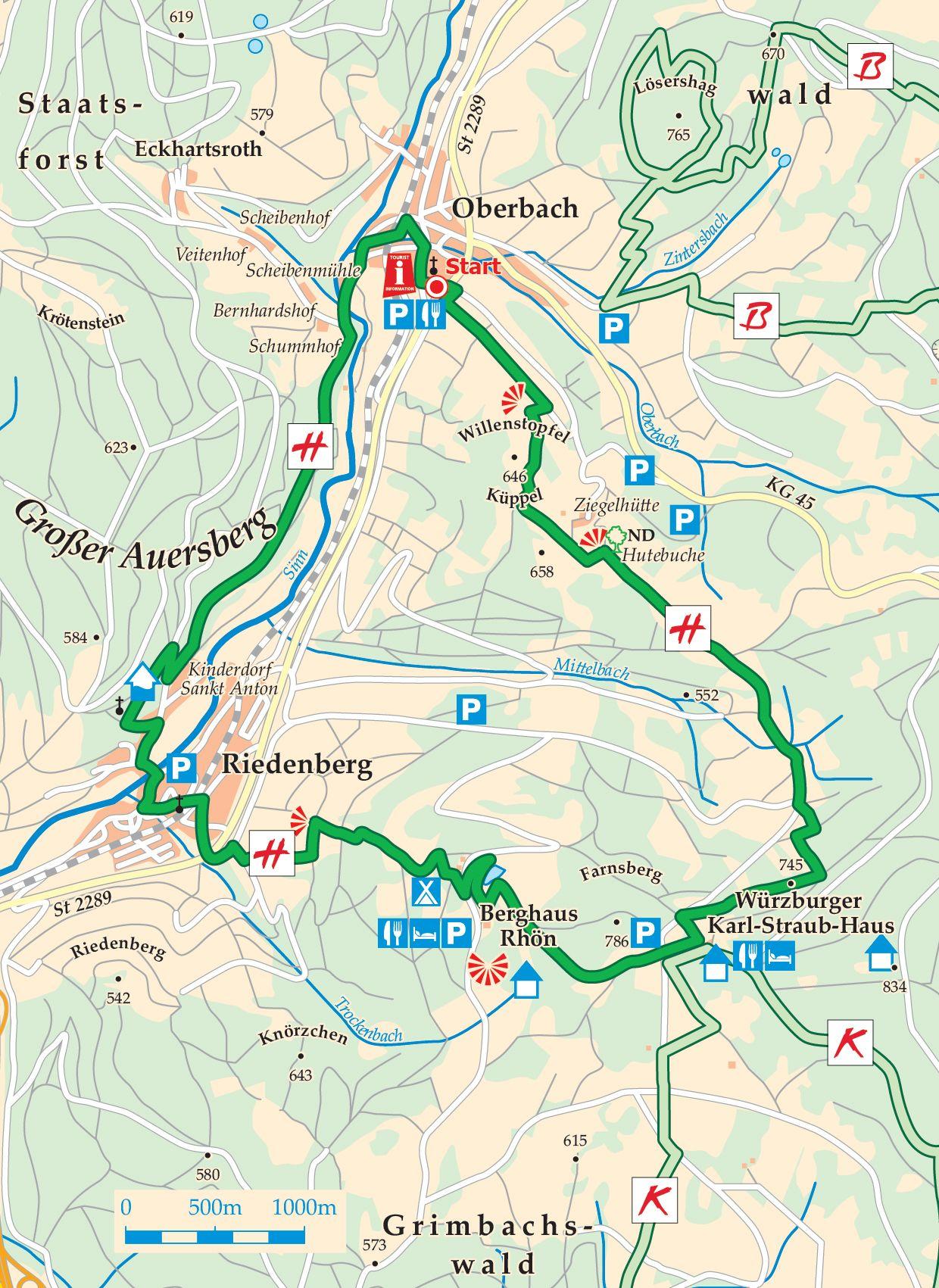 Extratour Hüttentour Karte