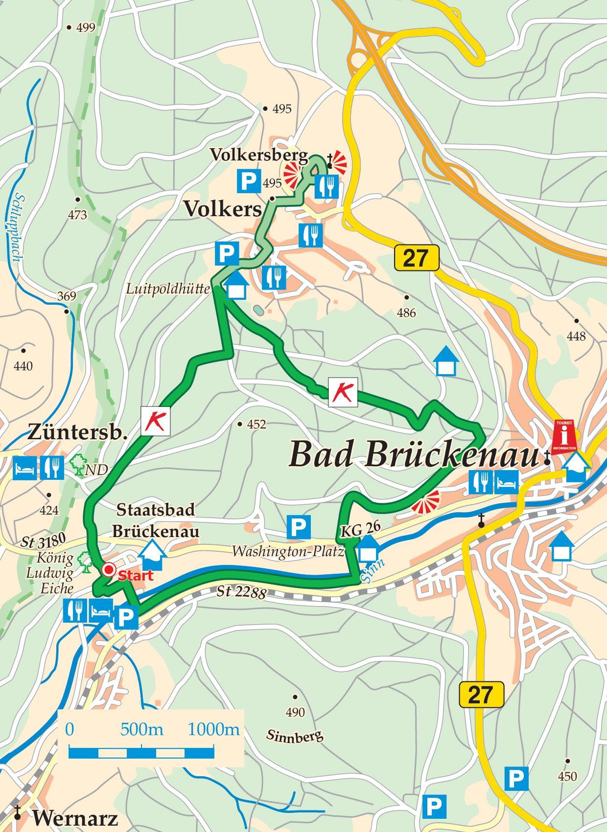 Extratour Königsweg Karte