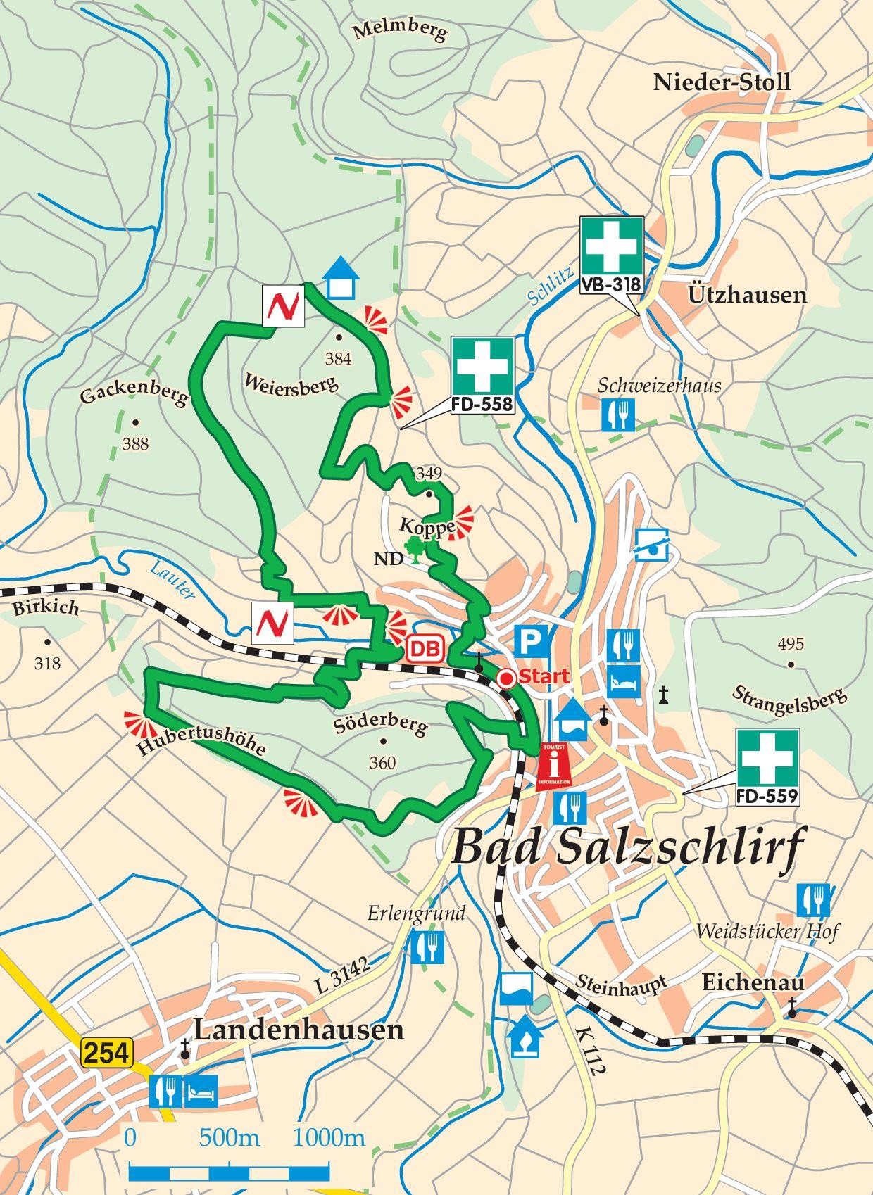 Extratour Tour de Natur Karte