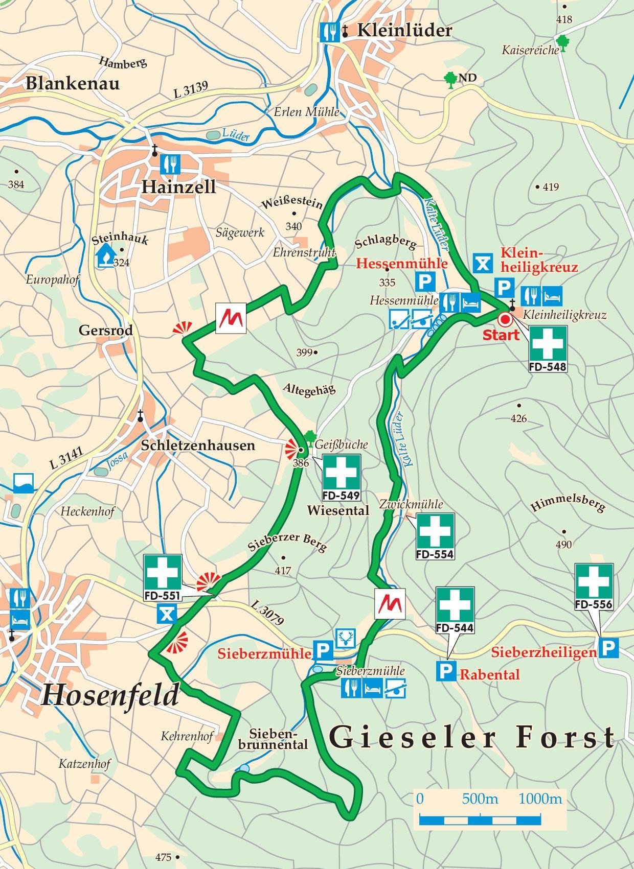 Extratour Mühlentour Karte