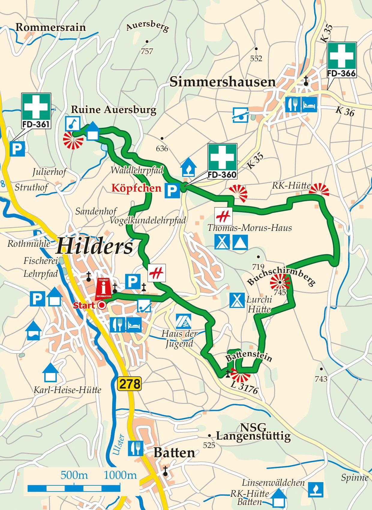 Extratour Der Hilderser Karte