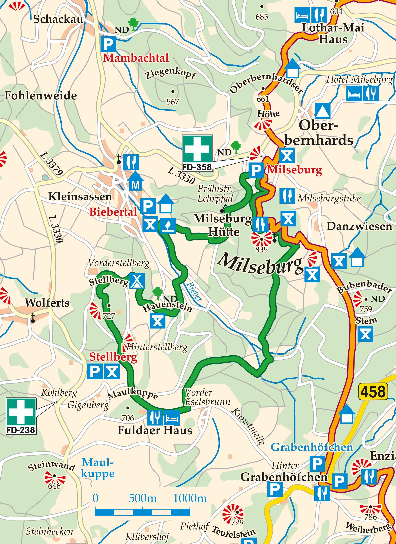 Extratour Milseburg Karte