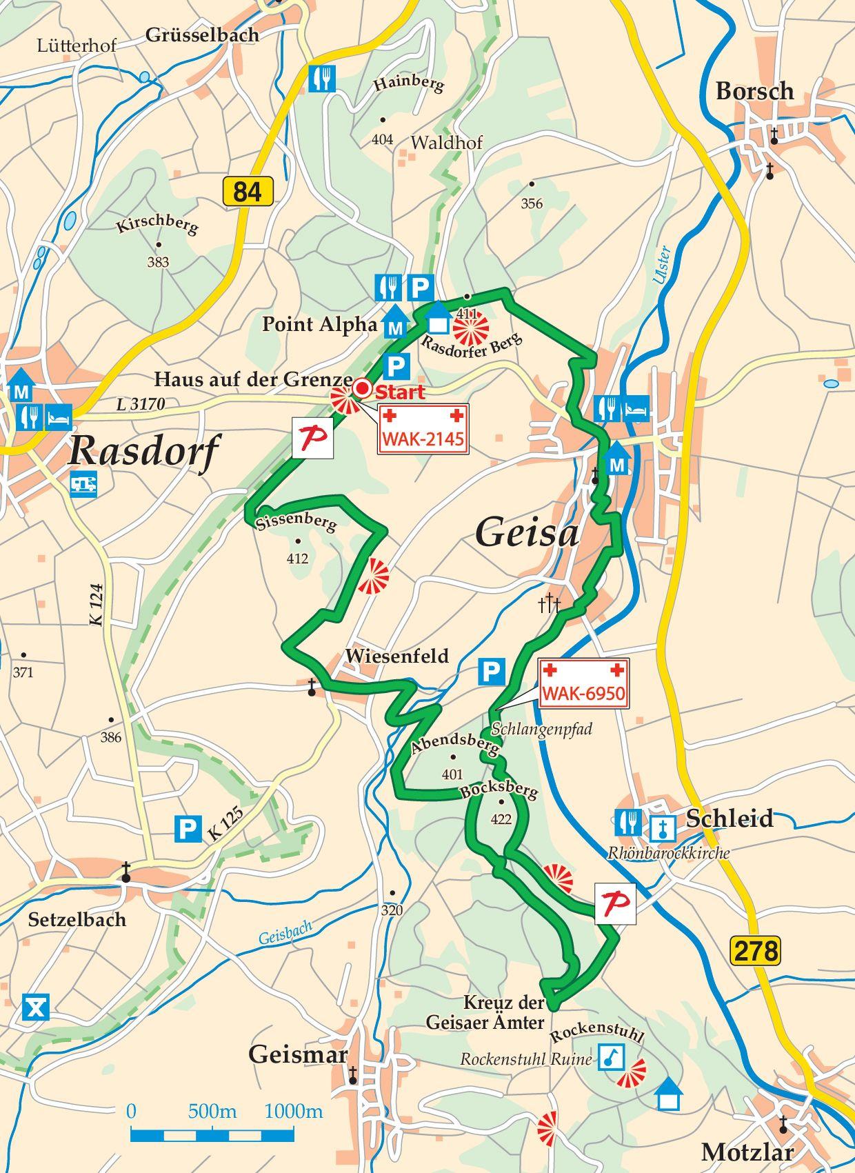 Extratour Point-Alpha-Weg Karte
