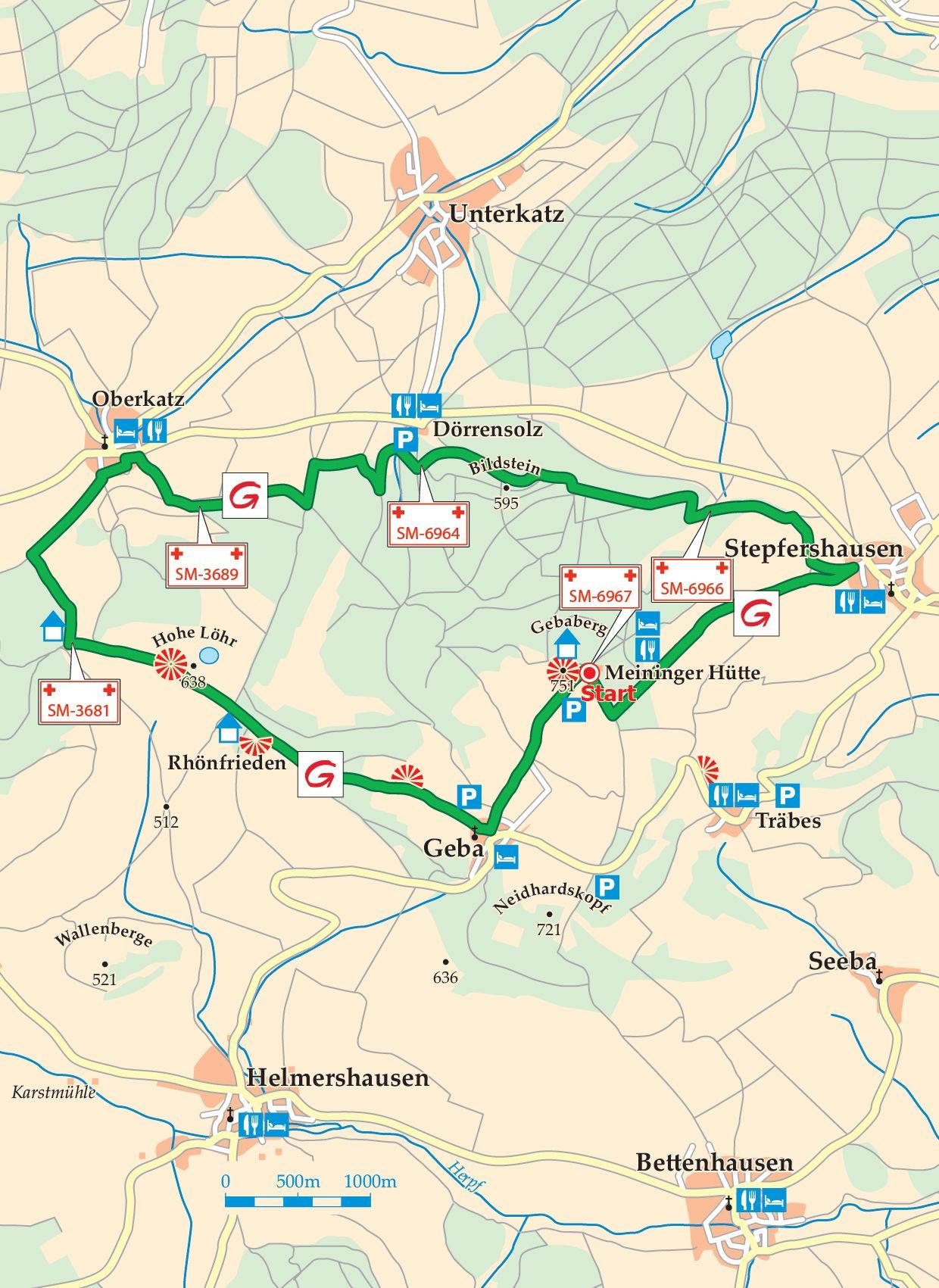 Extratour Gebaweg Karte
