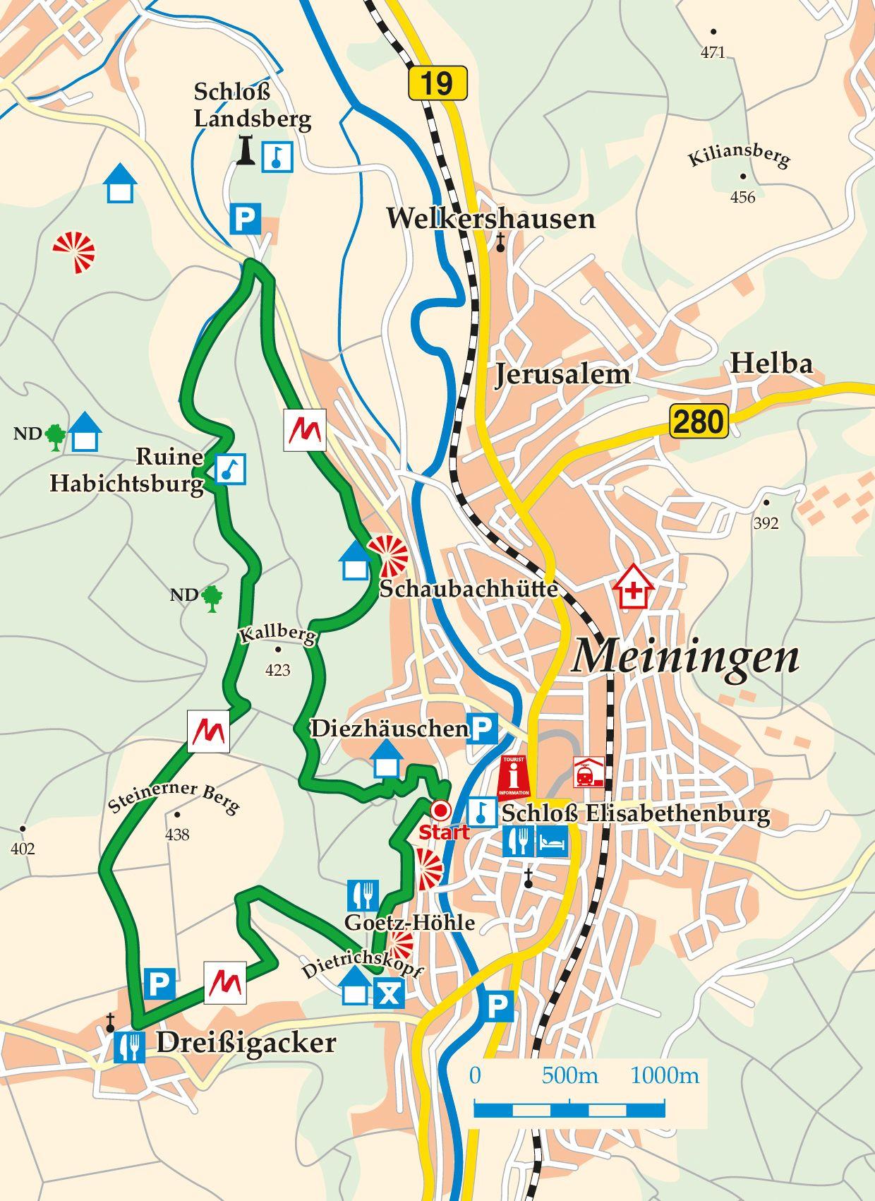 Extratour Der Meininger Karte