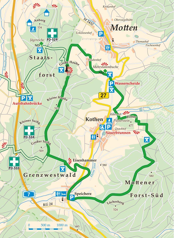 Extratour Der Mottener Karte