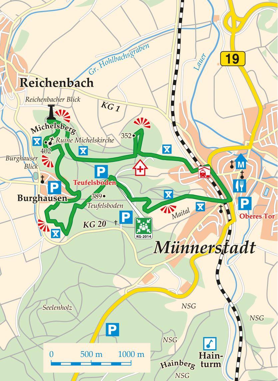 Extratour Michelsberg Karte