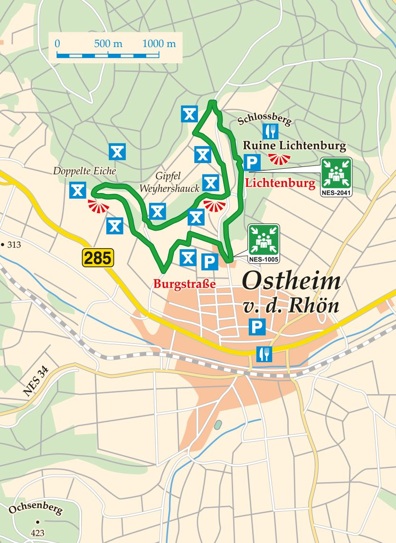 Extratour Ostheimer Karte