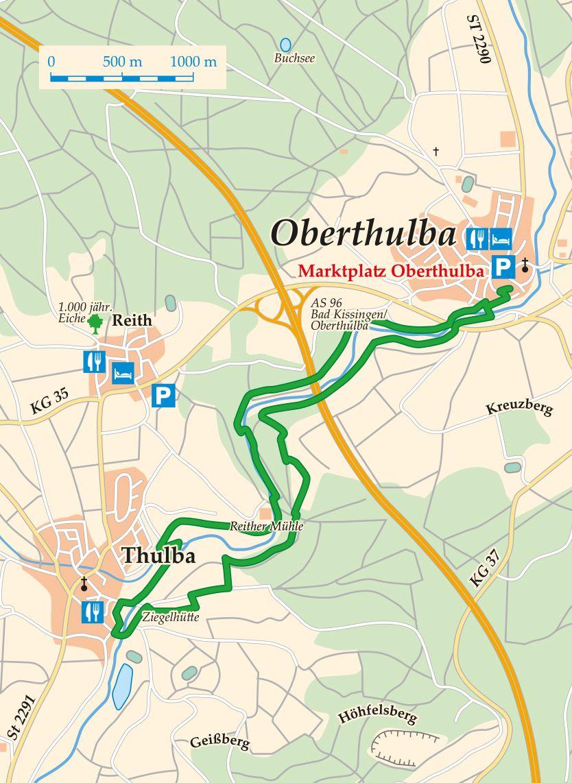 Extratour Thulbataler Karte