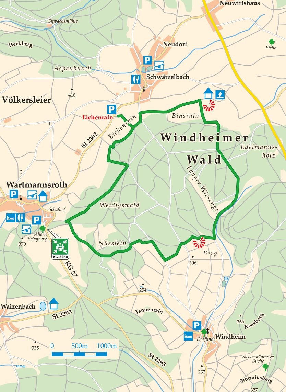 Extratour Wald-Brand Karte