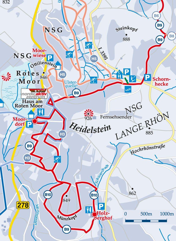 Fernloipe B9 Holzberghof–Sennhütte Karte