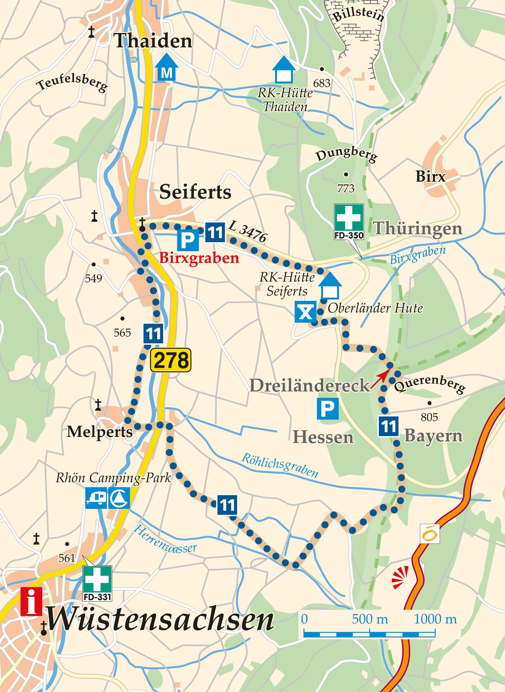 Rhön-Rundweg 11 Seiferts Karte