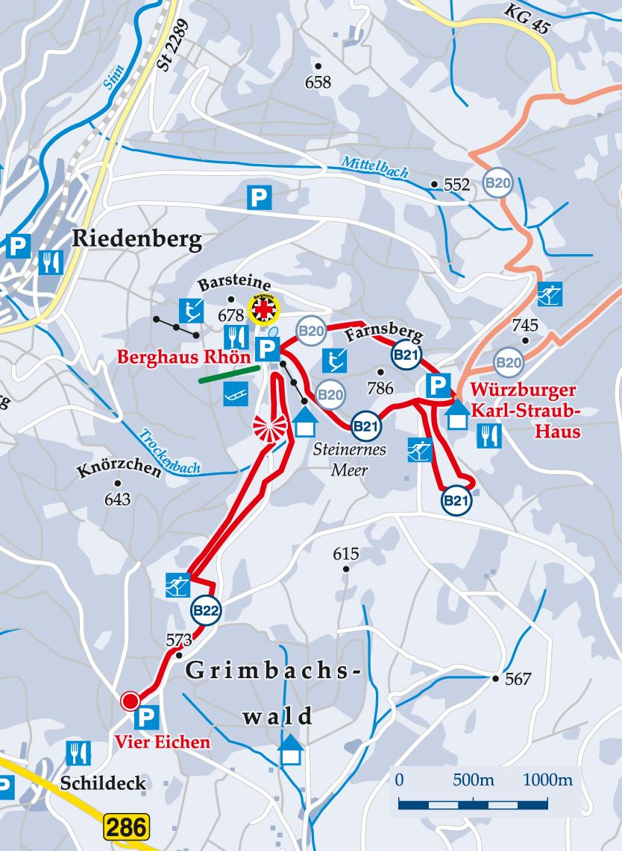 Rundloipe Berghaus Rhön Karte