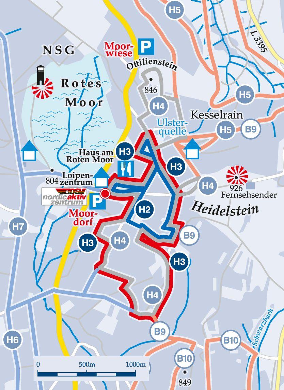 Rundloipe-H3-Mittelschwere-Förstina-Loipe Karte